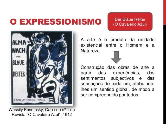 """O EXPRESSIONISMO Der Blaue Reiter(O Cavaleiro Azul)Wassily Kandinsky, Capa no nº 1 daRevista """"O Cavaleiro Azul"""", 1912Prete..."""