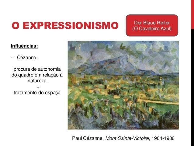 O EXPRESSIONISMO Der Blaue Reiter(O Cavaleiro Azul)Matisse, A MúsicaInfluências:- Cézanne:procura de autonomia doquadro em...