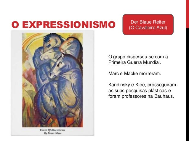 Resumo das características doExpressionismo:· O realismo e as proporções sãodistorcidas pelas emoções do artista· Arte sur...