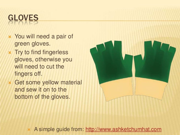 How to make a ash ketchum costume 6 gloves you will solutioingenieria Images