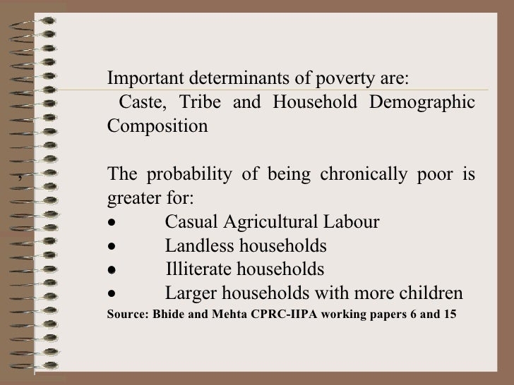 determinant of poverty essay The study investigates the empirical determinants of poverty in zimbabwe using cross section data for 2005 the study focuses on consumption functionsince poverty is defined as lack of basic needs of which food is included a regression model  and other determinants, and ε.