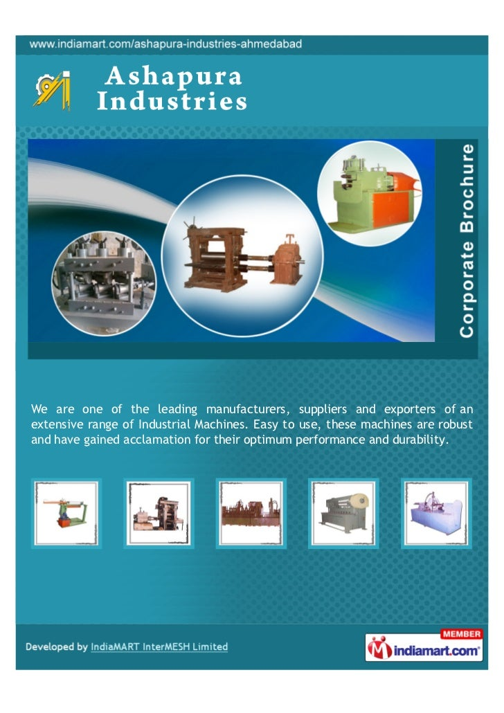 We are one of the leading manufacturers, suppliers and exporters of anextensive range of Industrial Machines. Easy to use,...