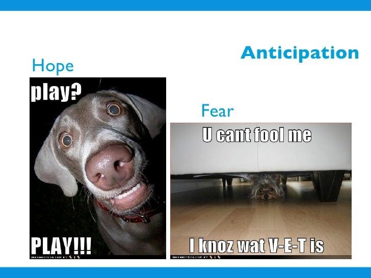 Anticipation Hope         Fear