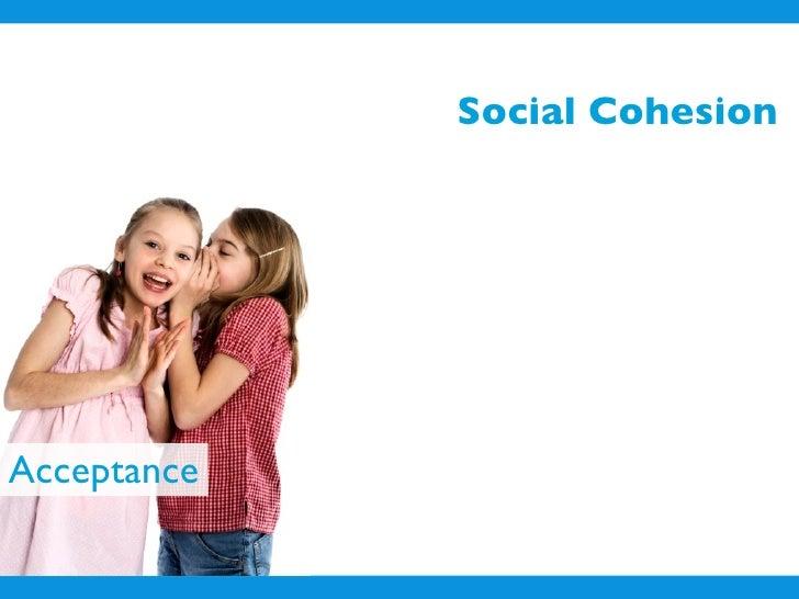 Social Cohesion     Acceptance