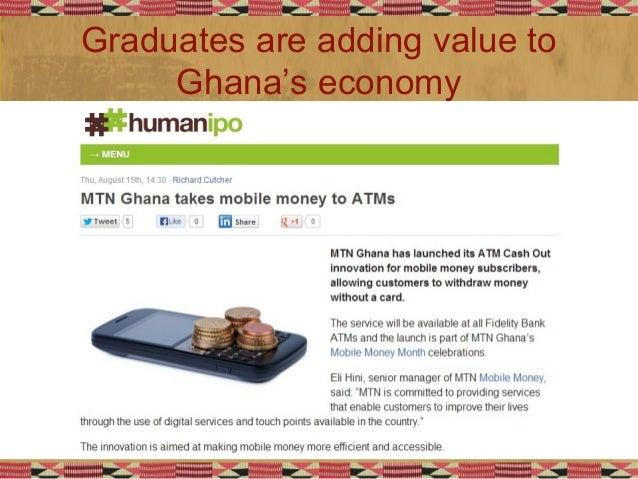 Graduates are adding value to Ghana's economy