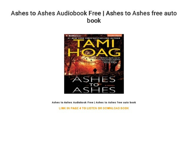 Ashes to Ashes Audiobook Free | Ashes to Ashes free auto book