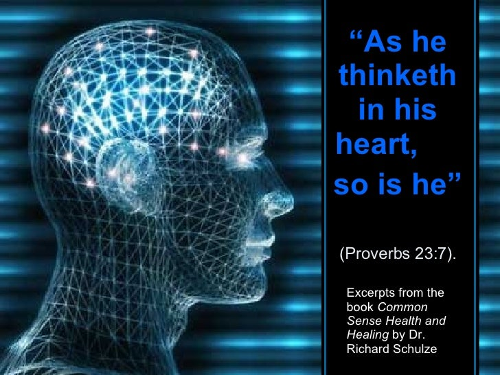 """"""" As he thinketh in his heart,  so is he""""   (Proverbs 23:7). CLICK TO ADVANCE SLIDES ♫  Turn on your speakers! Tommy's Win..."""