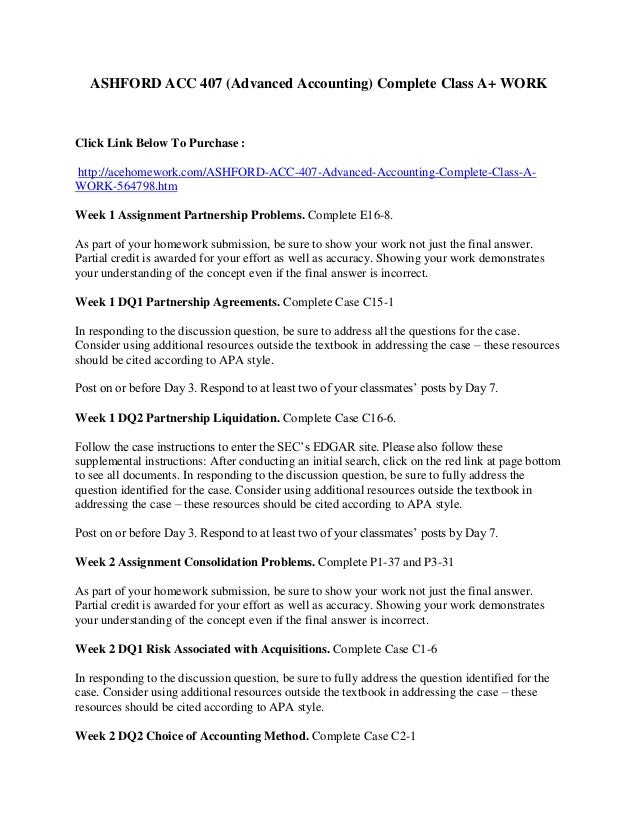 acc 407 advanced accounting Advanced search search citation  acc chem res , 1989, 22 (12), pp 407– 413 doi: 101021/  cite this:acc chem res 22, 12, 407-413 note: in lieu of  an  accounts of chemical research 1999 32 (12), 1007-1016 abstract   full  text.
