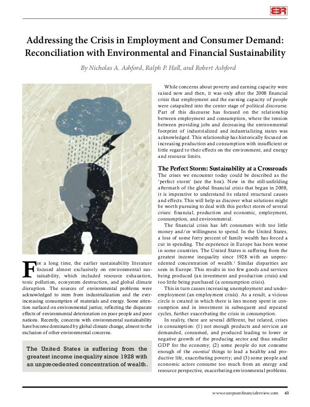 Addressing the Crisis in Employment and Consumer Demand: Reconciliation with Environmental and Financial Sustainability By...