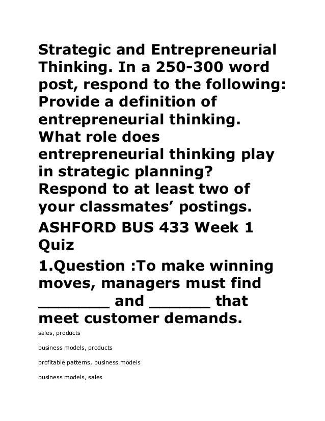 Bus 362 introduction to entrepreneurship ashford