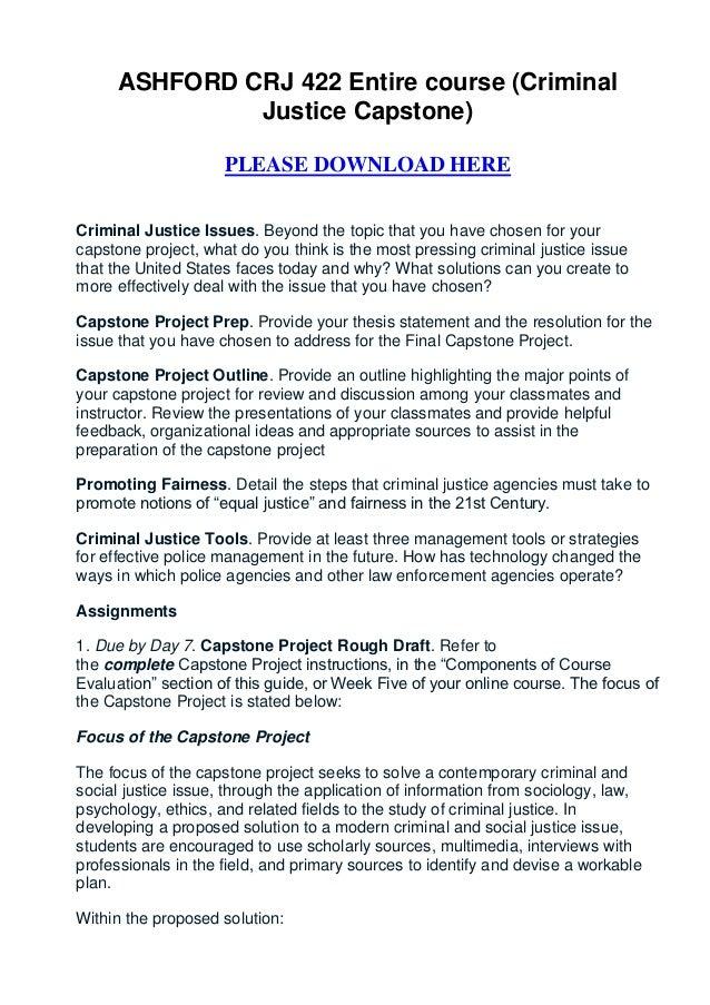 Criminal justice term paper