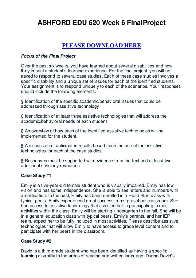 week 6 final assignment rohr Week 4 assignment outline of final paper week 4 assignment outline of final paper due 4/7/2017 the paper must be one to two pages excluding the [.