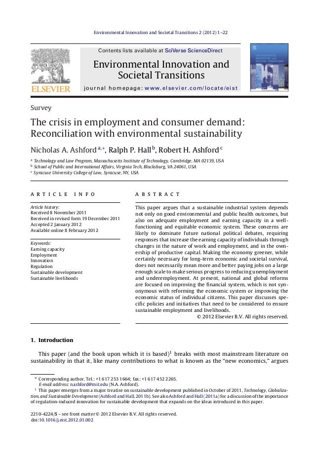 Environmental Innovation and Societal Transitions 2 (2012) 1–22  Contents lists available at SciVerse ScienceDirect  Envir...