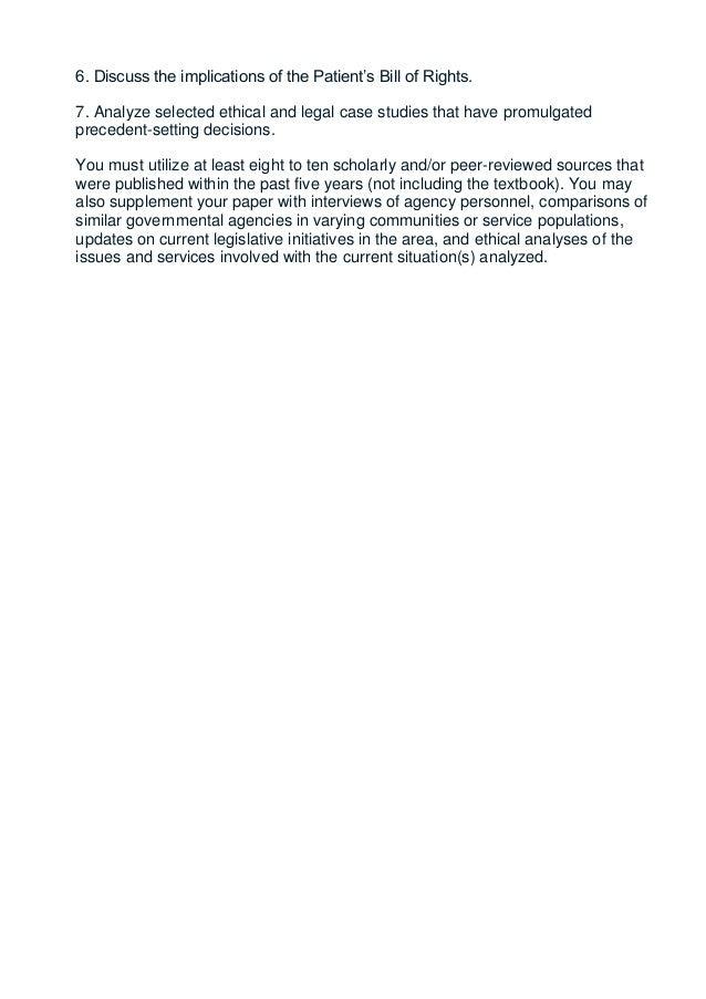 Medical ethics case studies 2014