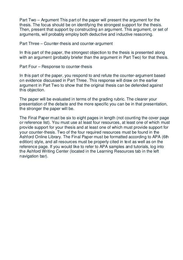 Ashford ethics final paper