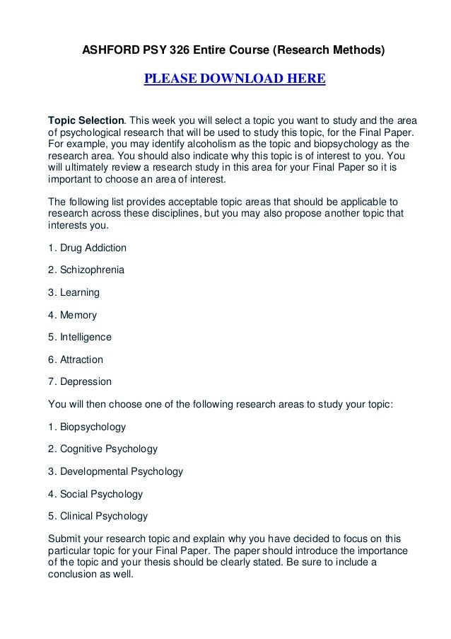 clinical psychology thesis topics