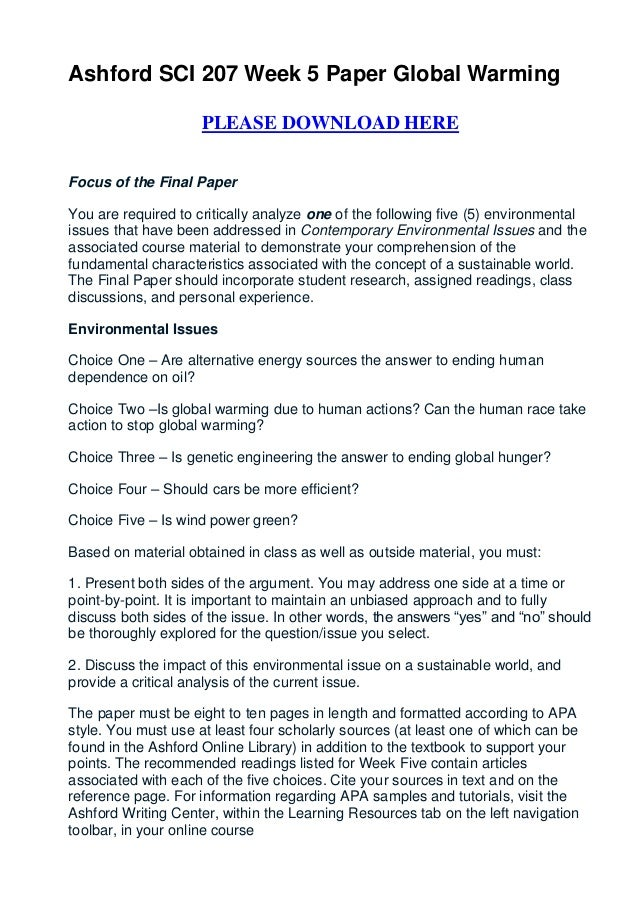 Global warming essay thesis