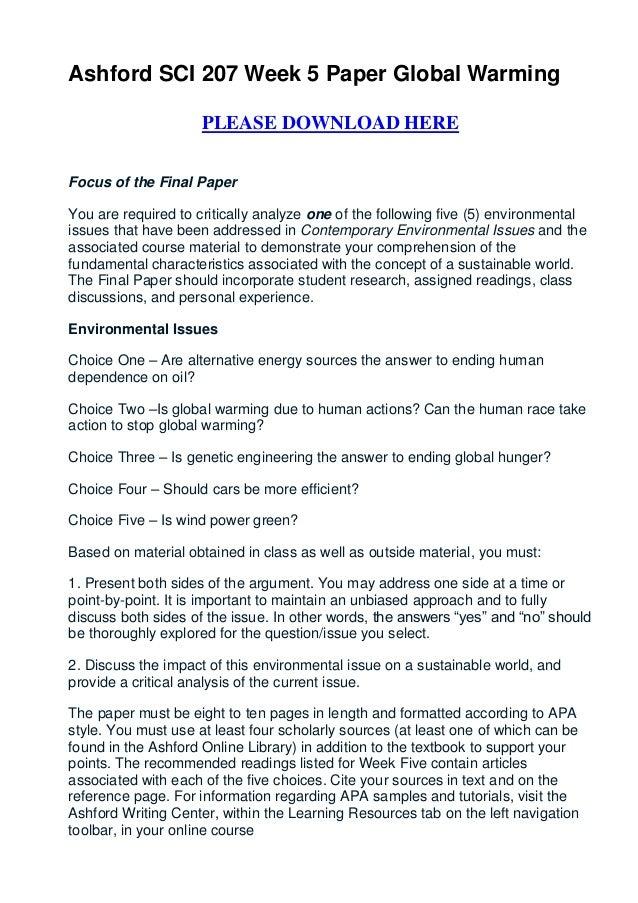 Persuasive essay global warming
