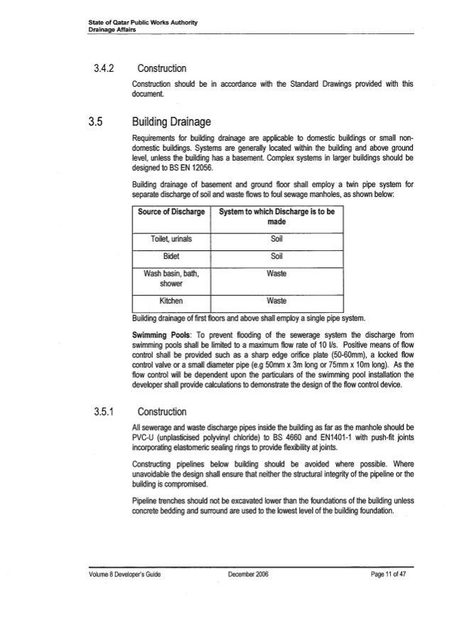 Basement Drainage Design ashghal guide-qatar-sewerage-amp-drainage-design-manual