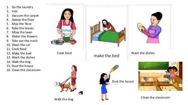 household chores teaching esl