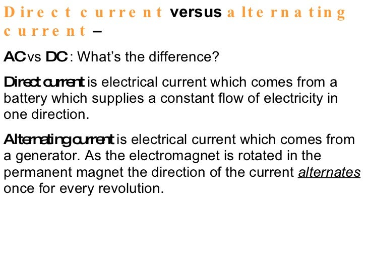 direct current examples. direct current examples