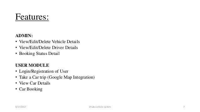 Vehicle Management System Project