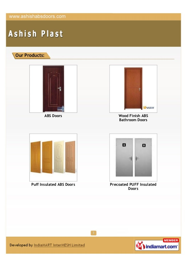 3. Our Products ABS Doors ...  sc 1 st  SlideShare & Ashish Plast Pune Abs Doors