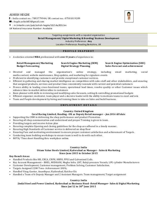 Ashish hegde resume