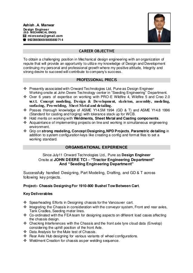 ashish manwar resume