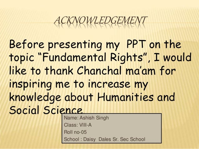 Assignment on fundamental rights and duties