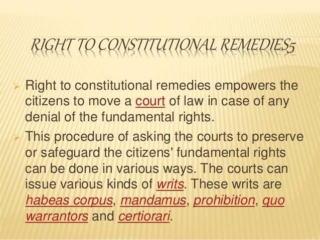 Fundamental rights.