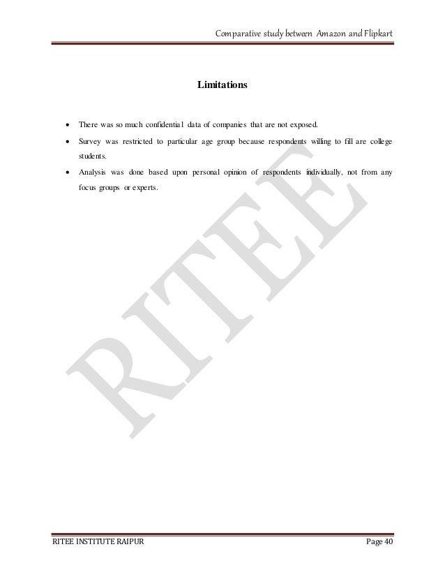 amazon & flipkart comparative study between amazon and