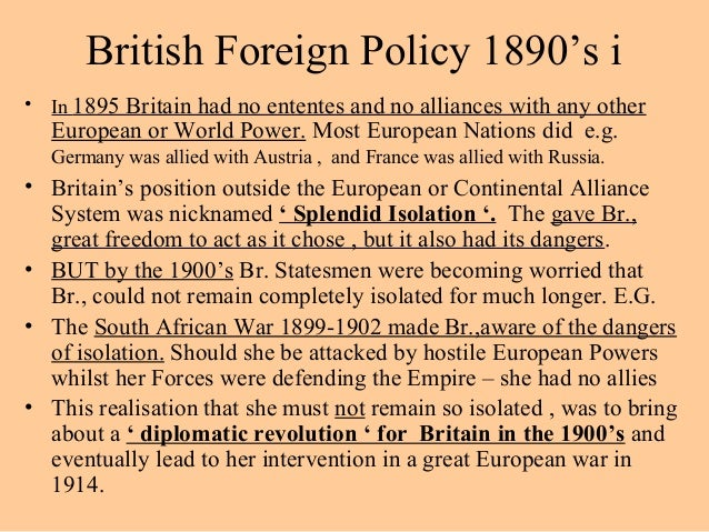 The mystery of englands foreign policy