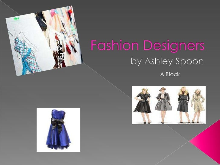 Presentation about fashion design