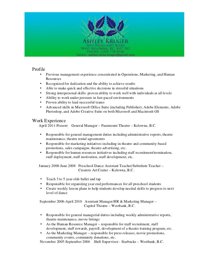 Ashley Anne Kruger Resume