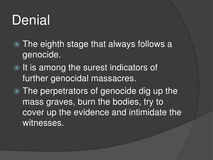 Ashley cook 8 stages of genocide