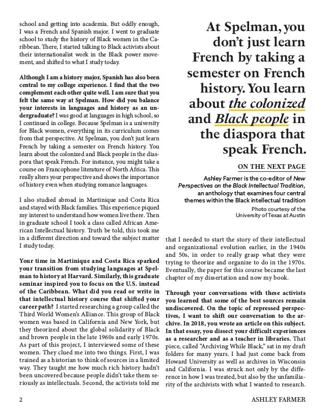 school and getting into academia. But oddly enough, I was a French and Spanish major. I went to graduate school to study t...