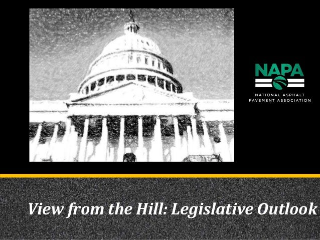 View from the Hill: Legislative Outlook
