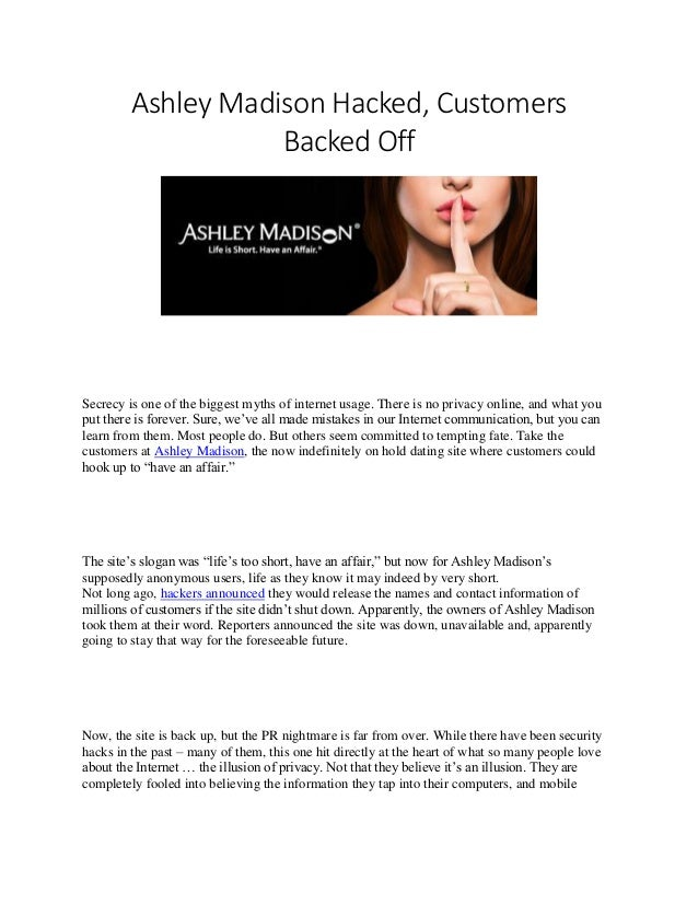 Madison Dating sito Hacked elenco