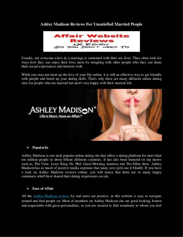 ashley madison site review
