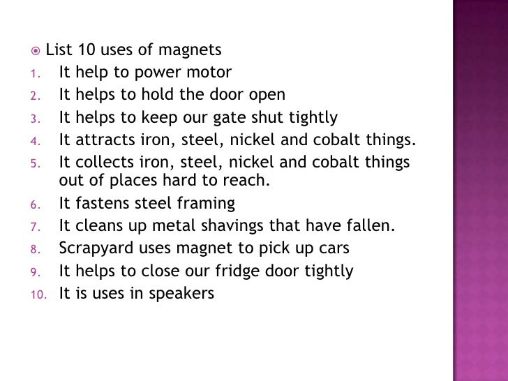 What Uses Magnets In The Home