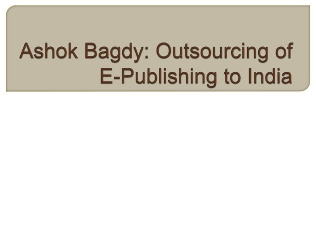  India is ready to become a major player in the e-publishing market in the next few years. Major publishing companies suc...