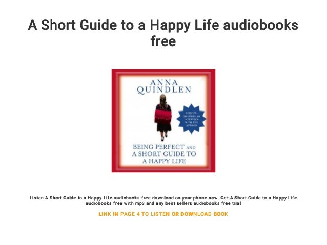 A Short Guide To A Happy Life Audiobooks Free