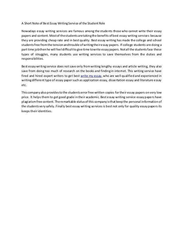 best essay written