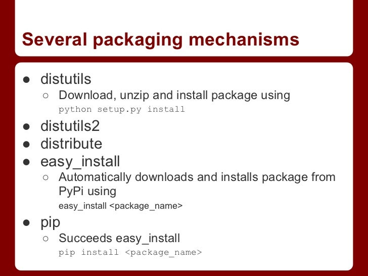 A short tutorial on python packaging