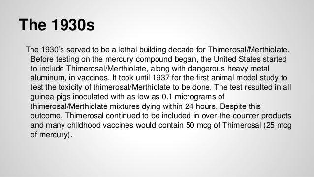 Thimerosal and Autism Timeline