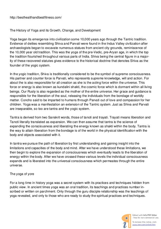 http://besthealthandbestfitness.com/  The History of Yoga and its Growth, Change, and Development Yoga began its emergence...