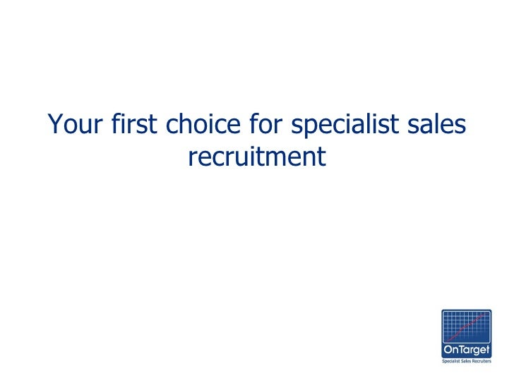 Your first choice for specialist sales recruitment