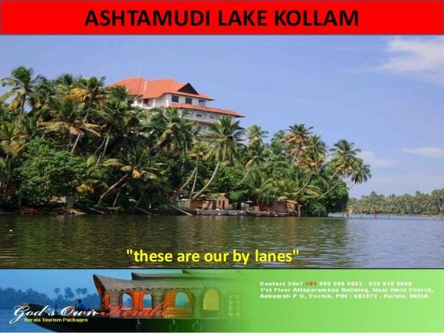 "ASHTAMUDI LAKE KOLLAM  ""these are our by lanes"""