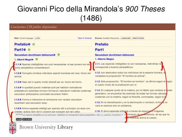 Giovanni Pico della Mirandola's 900 Theses                  (1486)